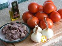 Приготовление фаршированных помидор: шаг 1