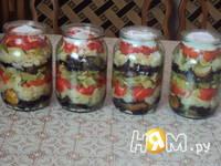 Приготовление слоёного салата с баклажанами: шаг 2