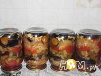 Приготовление слоёного салата с баклажанами: шаг 3