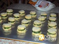 Приготовление огуречных колечек в  шубке: шаг 4