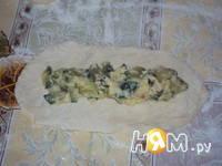 Приготовление пирога-гармошки: шаг 7