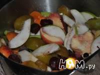 Приготовление фруктового кобблера: шаг 1