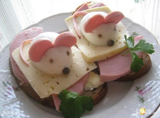 """Бутерброды""""Мышата"""""""
