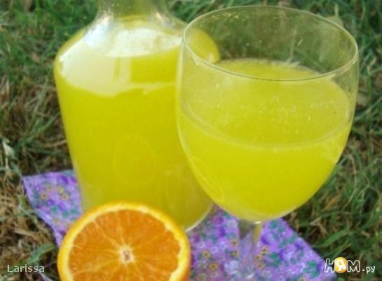 """Рецепт Апельсиновый напиток """"Оранж"""""""