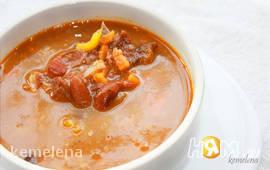 Суп из баранины с красной фасолью