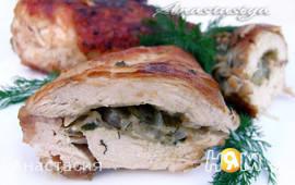 Куриное филе с сыром в кунжутной панировке