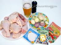 Приготовление шашлыка Хмельная курочка: шаг 1