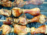Приготовление шашлыка Хмельная курочка: шаг 3