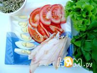 Приготовление салата Босфор: шаг 4
