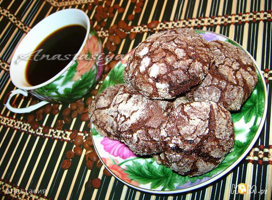 Рецепт Очень шоколадное печенье «с трещинками»