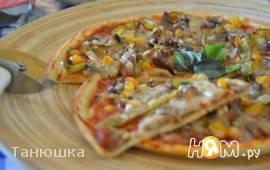 Пицца на тончайшем корже