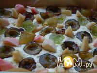 Приготовление пирога Фрукты в перине: шаг 2