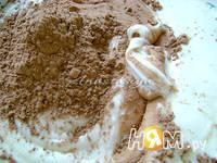 Приготовление пирога Зебра: шаг 3