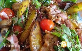 Деревенский салат с грибами