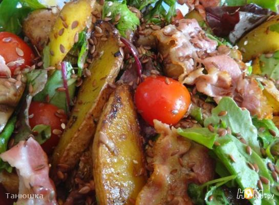 Рецепт Деревенский салат с грибами