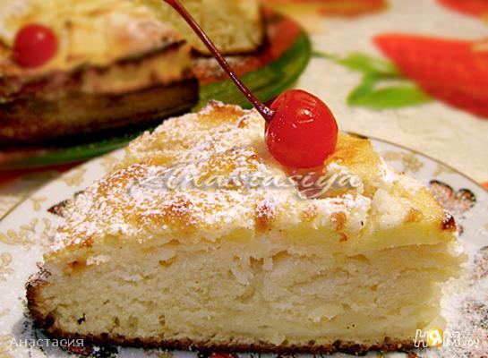 Рецепт Яблочный пирог с заливкой «Нежный»