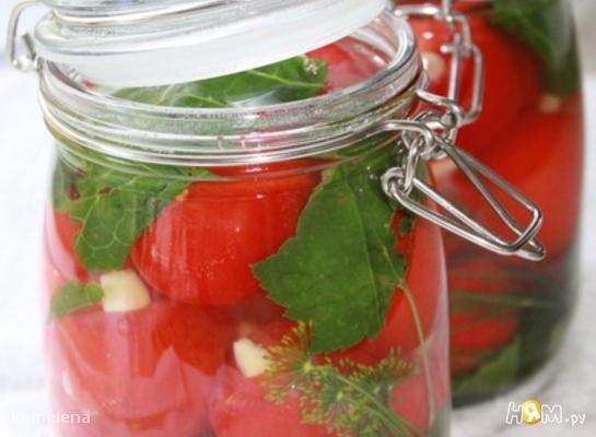 Маринованные помидоры с медом и чесноком
