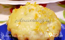 Цитрусовые кексы с тыквой на манке