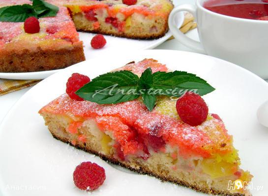 Рецепт Летний медовый пирог с ягодами