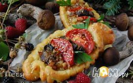 Сырные кораблики с грибной начинкой