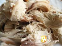 Приготовление закусочного блинного торта: шаг 2