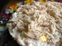 Приготовление закусочного блинного торта: шаг 11