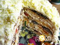 Приготовление закусочного блинного торта: шаг 17
