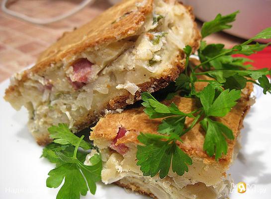 """Рецепт Пирог с капустой """"Нежный обед"""""""