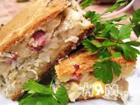 Приготовление пирога с капустой Нежный обед: шаг 17