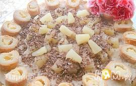 Торт с сыром маскарпоне и капучино