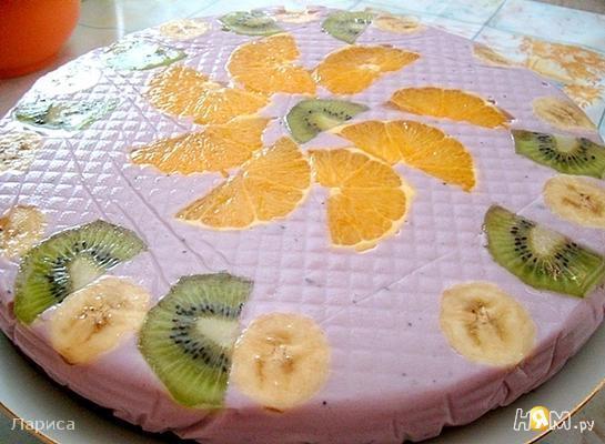 Нежный заливной тортик