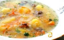 Тыквенно-пшенный суп