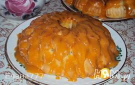 Кекс с халвой и апельсиновой глазурью
