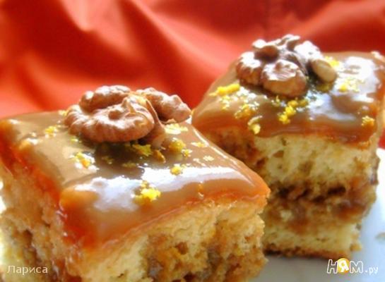 Апельсиновые бисквитные пирожные с кофейным кремом