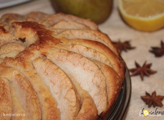 Пирог с грушей и коньяком