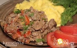 Куриная печень по-индонезийски