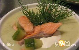 Крем-суп из цукини с форелью