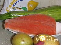 Приготовление крем-супа из цукини с форелью: шаг 1
