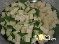 Приготовление крем-супа из цукини с форелью: шаг 3