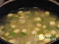 Приготовление крем-супа из цукини с форелью: шаг 6
