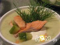 Приготовление крем-супа из цукини с форелью: шаг 10