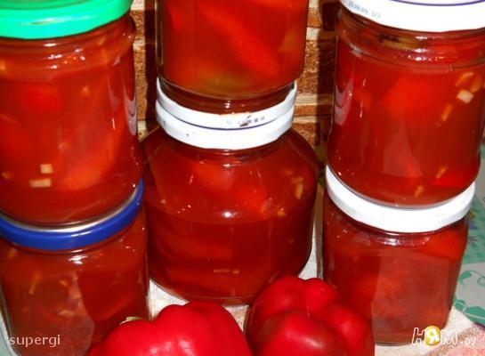 Сладкий перец в томатном соку