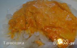 Сибас в сливочном соусе