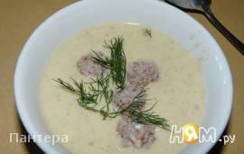 Суп-пюре грибной с фрикадельками