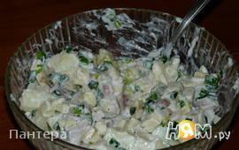 Салат с сельдью, яблоками и яйцами