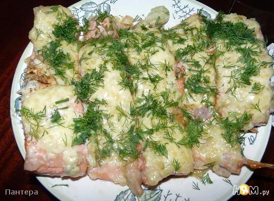 Рыба под сырно-чесночной корочкой