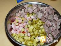 Приготовление солянки сборной мясной: шаг 2