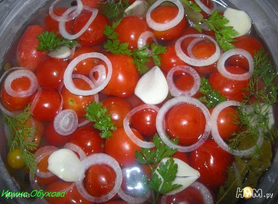 Рецепт Быстро маринованные помидорчики