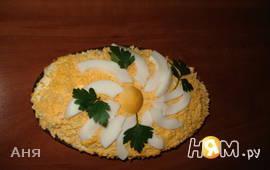 """Салат """"Мимоза"""" с плавленным сыром"""