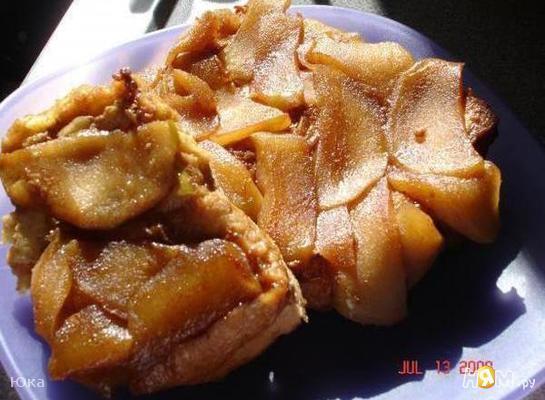 Гренки с яблоками на завтрак